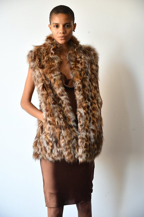 The Leopard Print Fox Vest