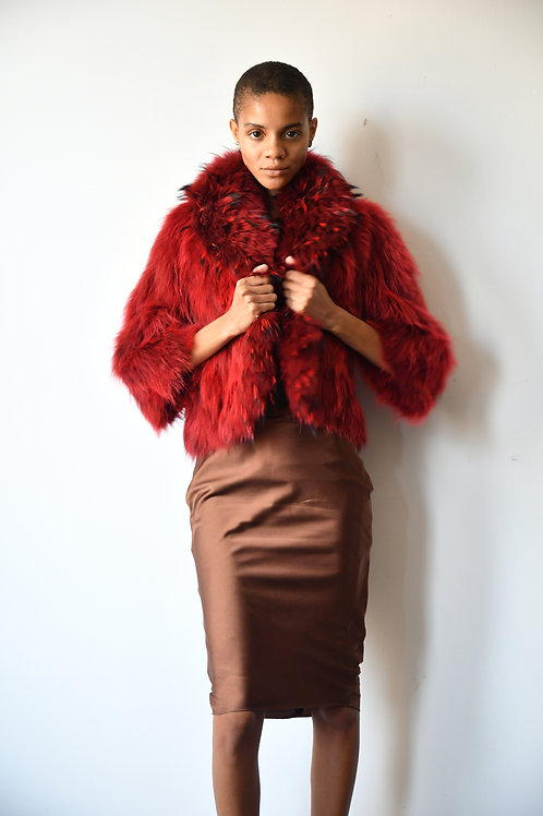 The Fox Jacket in Deep Red