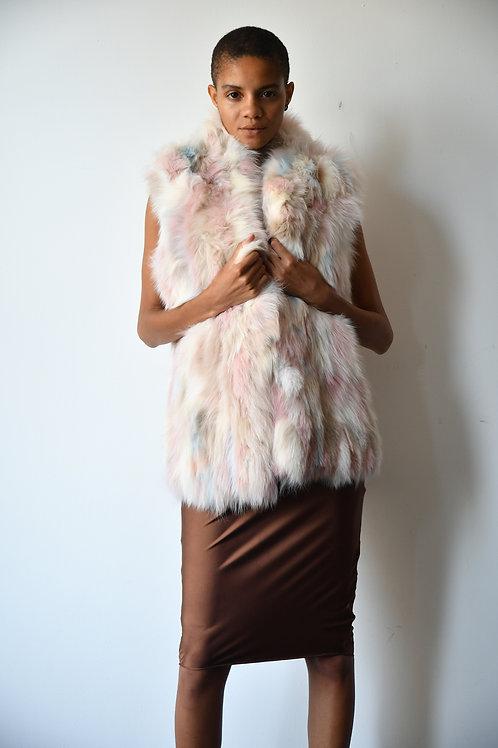 The Multi Pastel Fox Vest