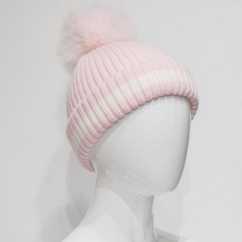 Pastel Pink Beanie w/ Pom