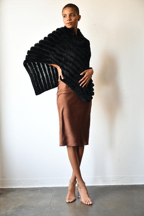 The Knit Fur Poncho