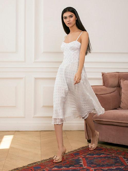 Платье с акцентным лифом