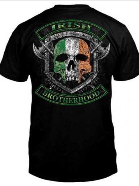 Irish Brotherhood Skull Cross-Axe T-Shirt