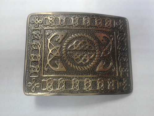 American Highlander Brass Celtic Circle Kilt Belt Buckle