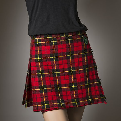 Kilt Runner Women's Red Wallace Lightweight Athletic Kilt