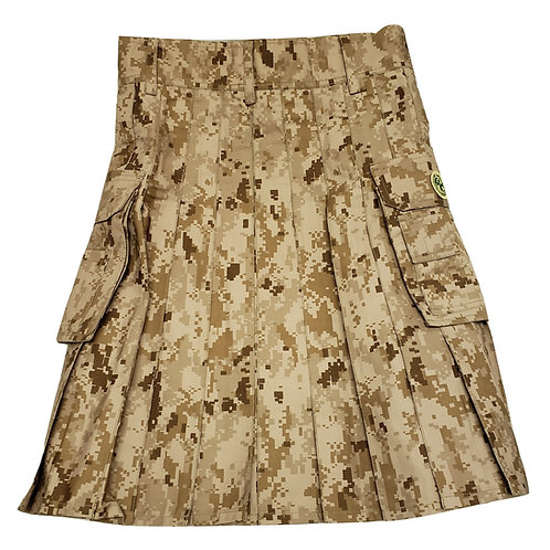 Desert Digital Utility Kilt with Pockets