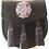 Thumbnail: Black Leather Silver Badge Fire Department Sporran
