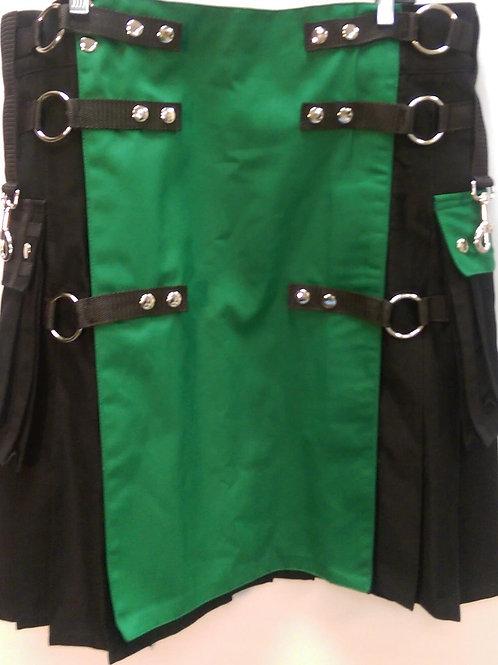 American Highlander Black Irish Utility Kilt