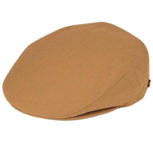 Camel Tan Flat Cap