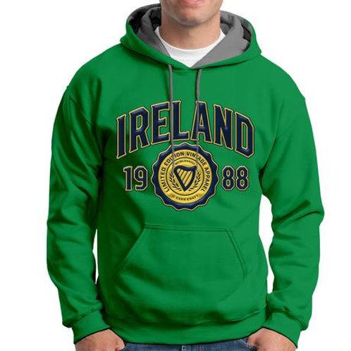 Ireland Green 1988 Harp Logo Hoodie