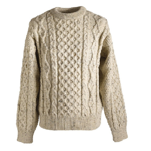 Kerry Woolen Mills Irish Wool Sweater (Oatmeal)