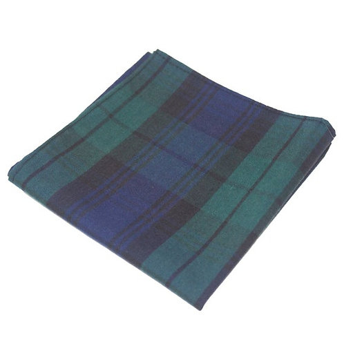 Black Watch Wool Blend Pocket Square