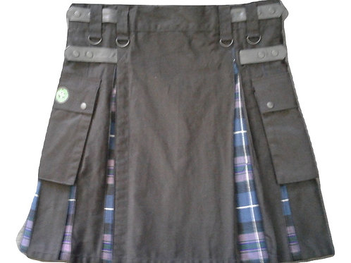 Black & Pride Of Scotland Men's Utility Kilt