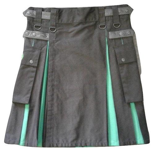 Black & Green Men's Utility Kilt