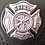 Thumbnail: Black Leather Silver Badge Fire Department Sporran