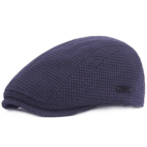 Blue Cotton Lightweight Summer Flat Cap
