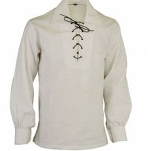 American Highlander Ivory Jacobite or Ghillie Shirt
