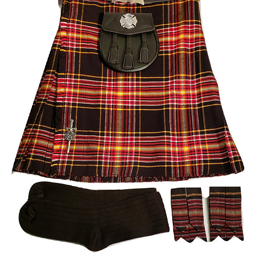 Firefighter Tartan Complete Kilt Package