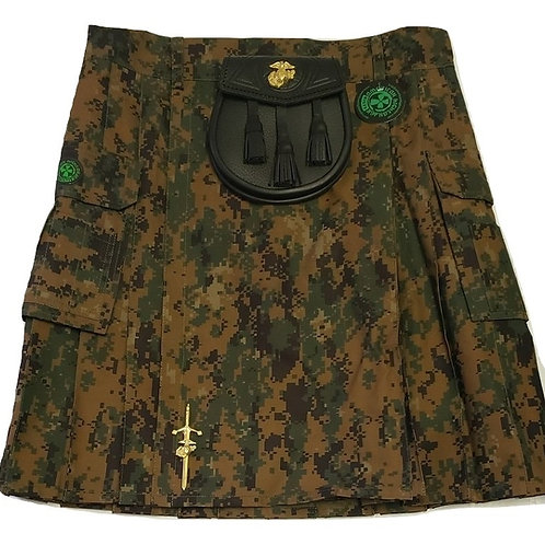 US Marine Woodland Marpat Digital Kilt Package