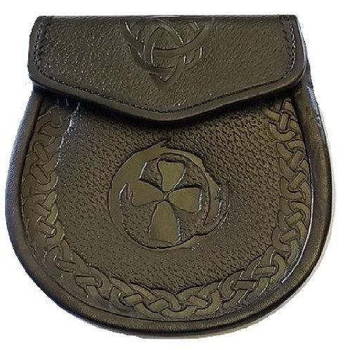 Black Premium Leather AH Signature Sporran