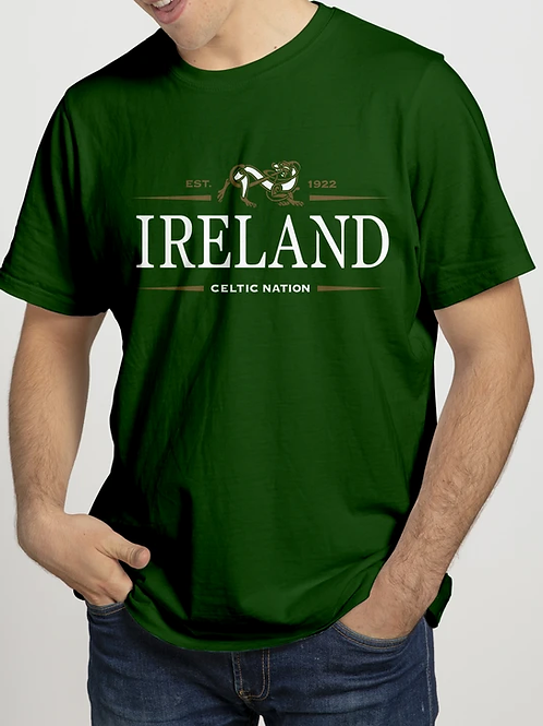 Ireland Celtic Nation Celtic Canine T-Shirt