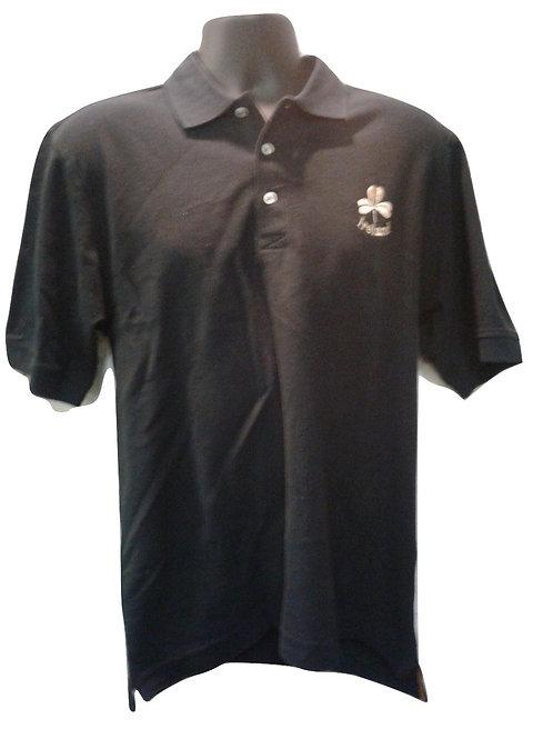 Black Ireland Shamrock Polo Shirt