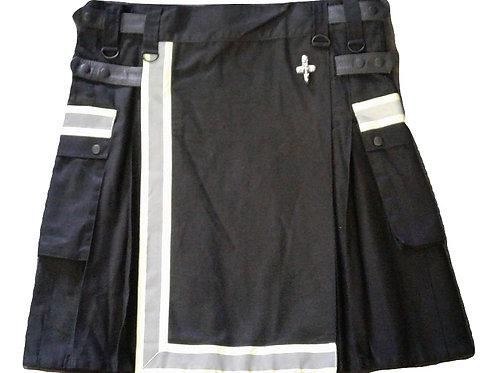 Black Firefighter Tactical Men's Utility Kilt
