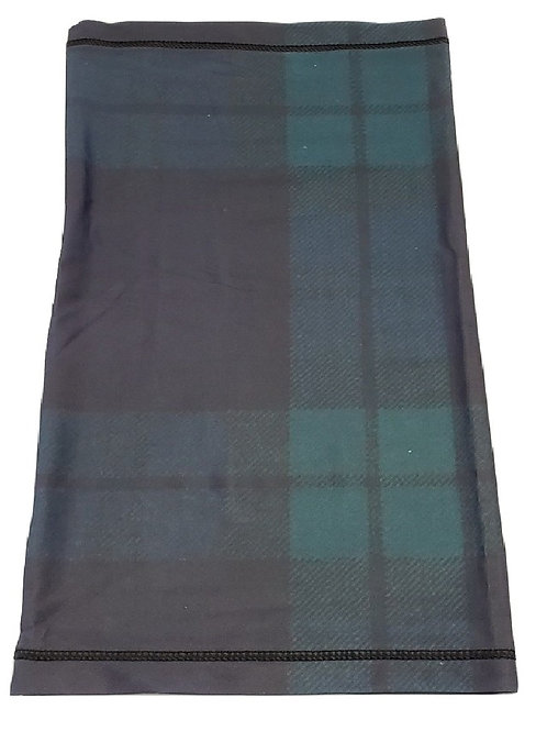 Black Watch Neck Gaiter - Breathable Tartan Neck and Face Mask