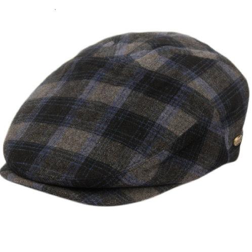 Blue Grey Flat Cap