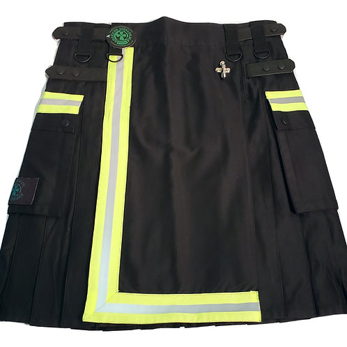 Black Firefighter Tactical Men's Utility Kilt