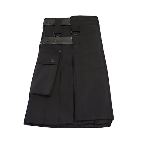 Women's Black Utility Kilt