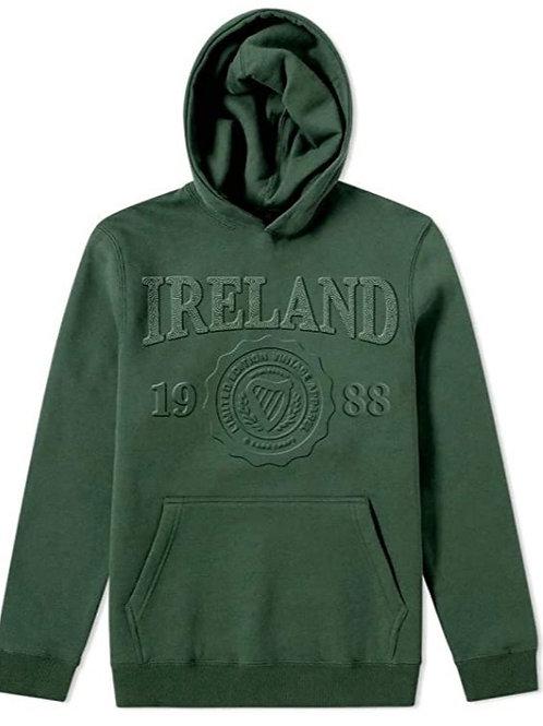 Ireland Green Embossed Hoodie
