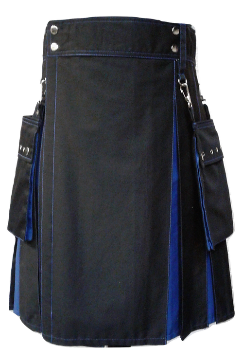 American Highlander Black and Blue Utility Kilt