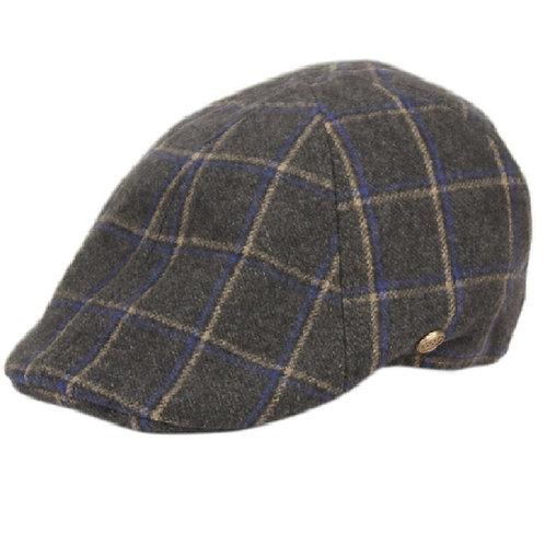 Charcoal Duckbill Flat Cap