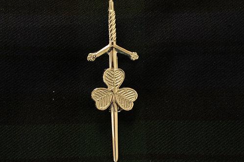 American Highlander Silver Shamrock Kilt Pin