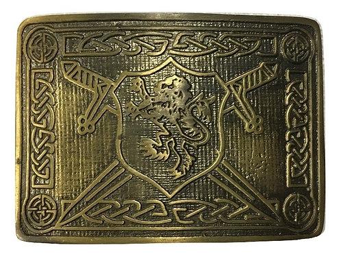 American Highlander Brass Rampant Lion Kilt Belt Buckle