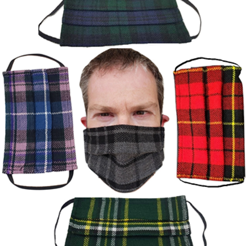 5-Pack of Face Kilts - One of Each Tartan Face Mask