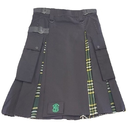 Black & Irish Tartan Men's Hybrid Utility Kilt