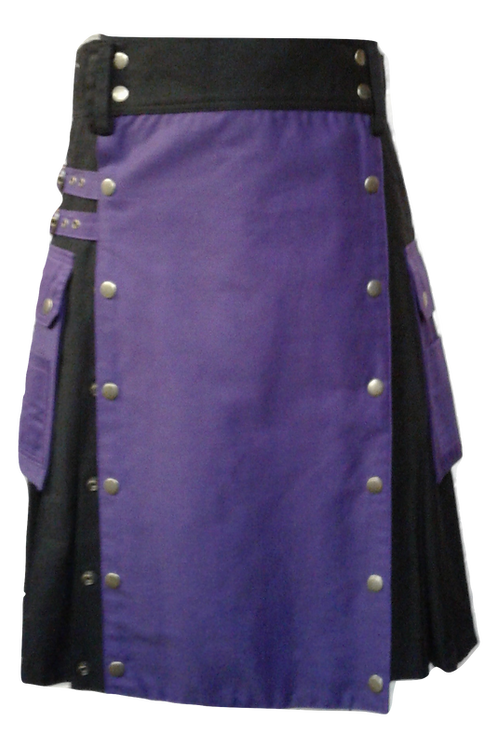 American Highlander Purple and Black Utility Kilt