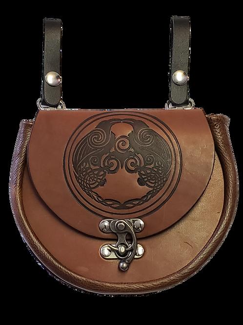 Brown Leather Premium Celtic Knot Sporran