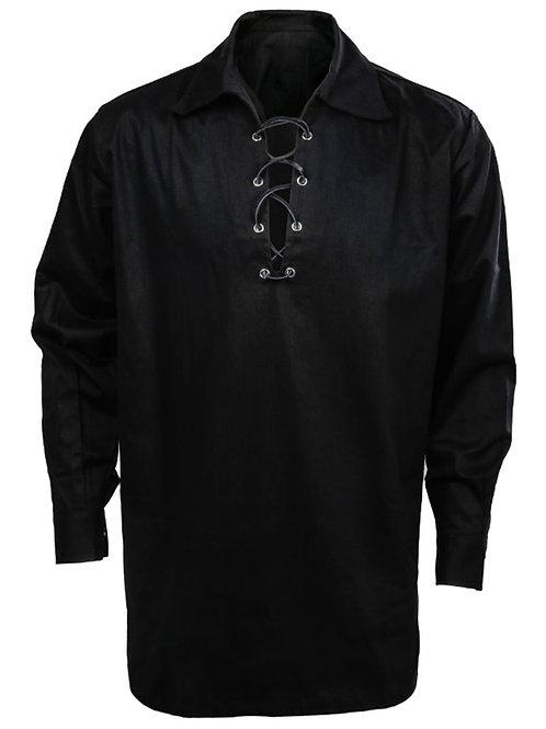 American Highlander Black Jacobite or Ghillie Shirt