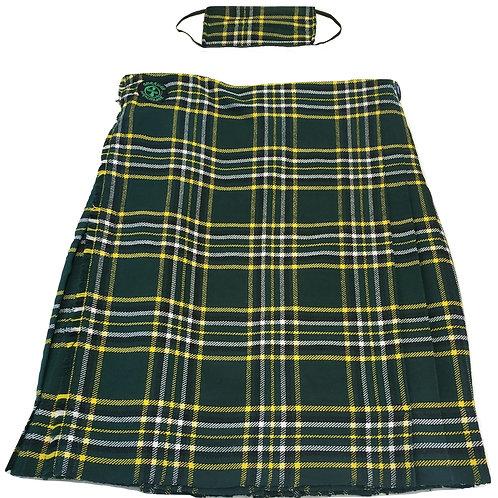 American Highlander Men's Irish National Tartan Kilt