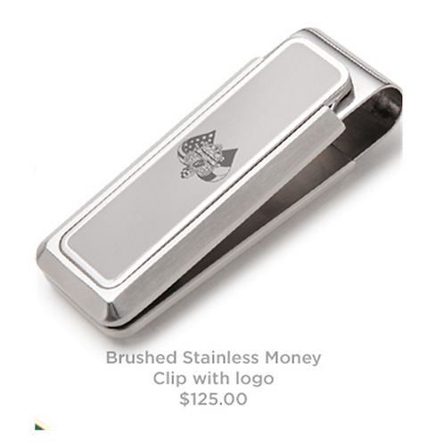 Brushed Stainless AOH Logo Money Clip