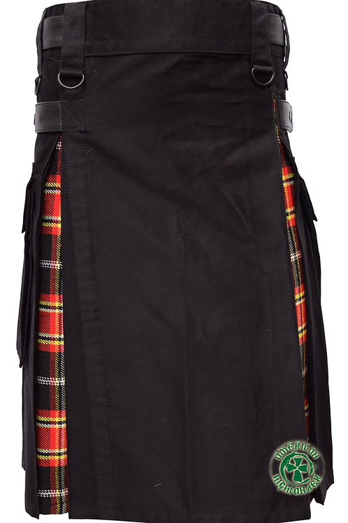 Firefighter Black Hybrid Utility Kilt