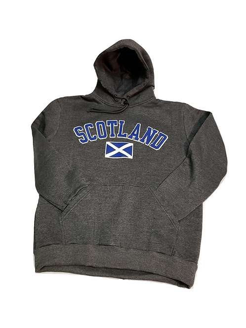 Charcoal Scotland Hoodie with Saltire
