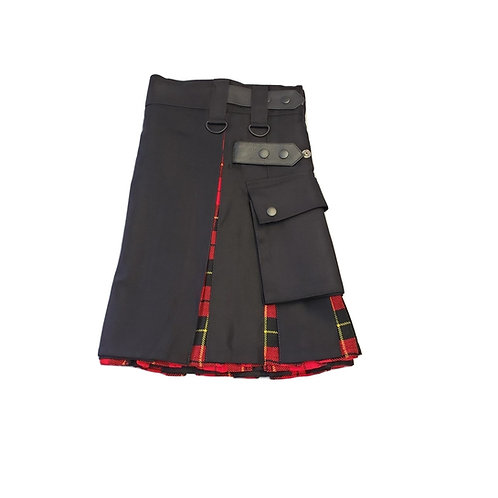 Women's Black and Wallace Utility Kilt