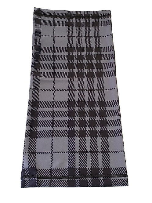 Grey Watch Neck Gaiter - Breathable Tartan Neck and Face Mask