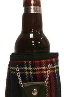 Beer Kilt in Black Stewart Tartan