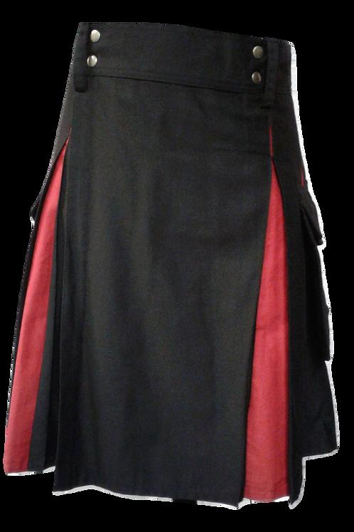 American Highlander Black and Red Utility Kilt