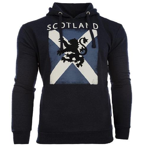 NavyBlue Distressed Scotland Saltire Lion Hoodie